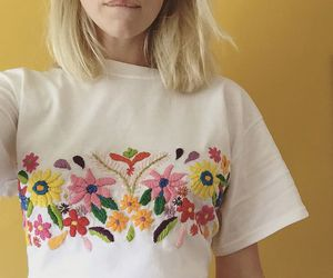 embroidery, t-shirt, and tessa perlow image