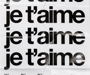 je t'aime, words, and french image