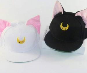 kawaii, cap, and cat image