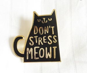 cat, quote, and cat pin image