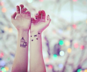 inked, tattoo, and love image