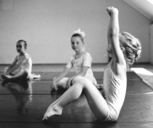 b&w, kid, and ballet image