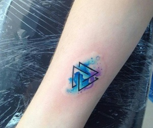 tattoo and blue image