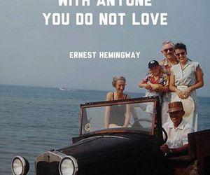 ernest hemingway, family, and quote image