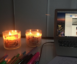 candle, macbook, and marshmallow image