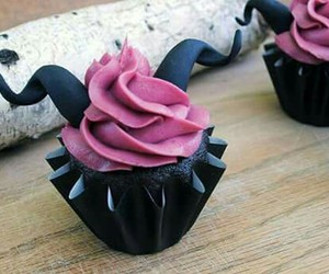 cupcake, maleficent, and black image