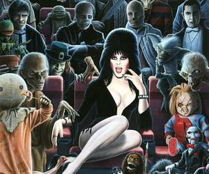 horror, elvira, and Chucky image