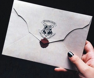hogwarts, harry potter, and Letter image