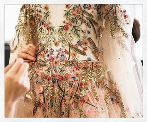 dress, embroidery, and fashion image
