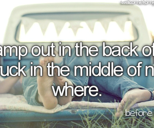 bucket list, truck, and before i die image