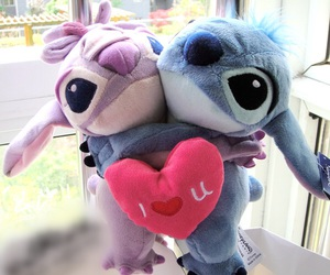 peluche, stitch, and love image