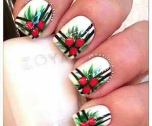 christmas, fashion, and nail art image