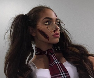 maggie lindemann, Halloween, and makeup image