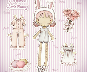 lovely and paper doll image