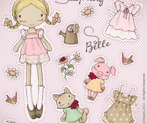 paper doll and lovely image