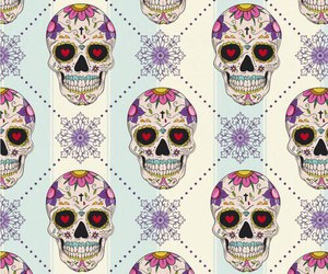 background, pattern, and skull image
