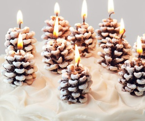 winter, candle, and party image