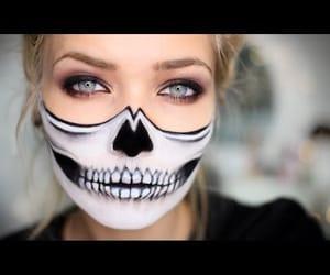 Halloween, makeup, and skelett image
