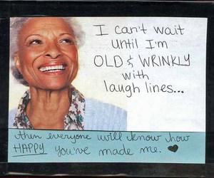 postsecret, wrinkles, and love image