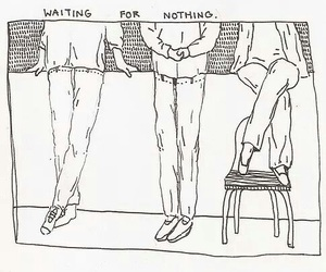 art, drawing, and waiting image