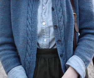 blue, sweater, and vintage image