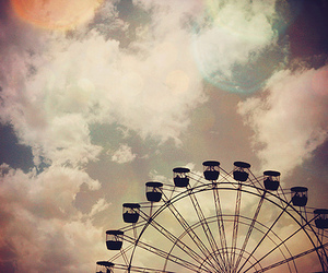 sky, photography, and ferris wheel image