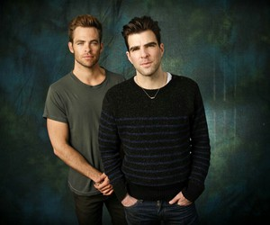 zachary quinto and chris pine image