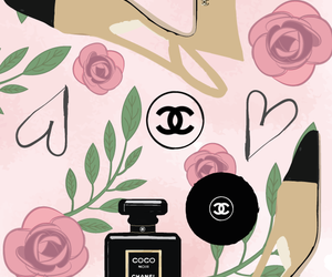 flowers, chanel, and heart image