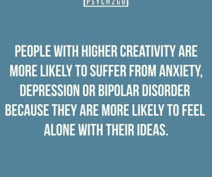 depression, alone, and creativity image