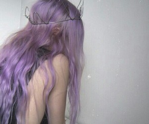 aesthetic, violet, and hair color image
