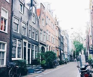 street, amsterdam, and black image