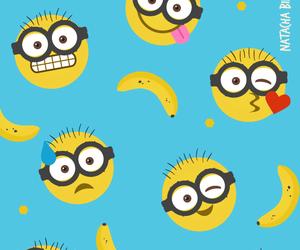 minions, banana, and wallpaper image