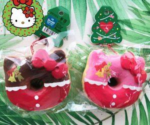 christmas, donut, and hello kitty image