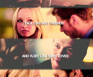 caroline, couples, and quotes image