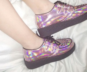 shoes, grunge, and pink image