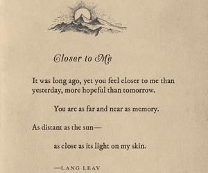 Lang Leav and poem image