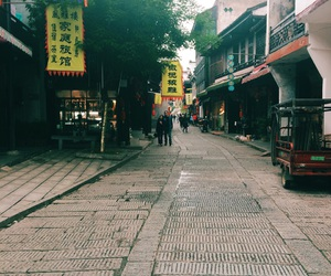 china, street, and ancient town image