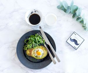 brunch, egg, and salad image