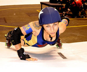 phoenix, roller derby, and push up image