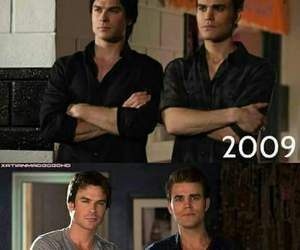 paul wesley, ian somerhalder, and the vampire diaries image