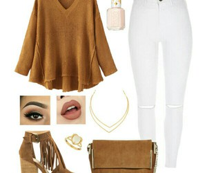camel, makeup, and outfits image
