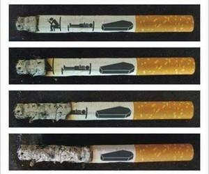 cigarette, smoke, and death image