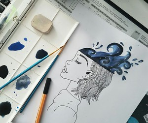 art, blue, and chaos image