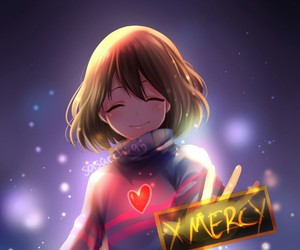 undertale, frisk, and mercy image