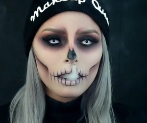 makeup, Halloween, and halloweenmakeup image