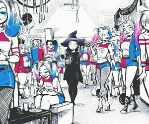 Halloween, harley quinn, and funny image