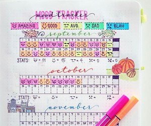 diary, organization, and planner image