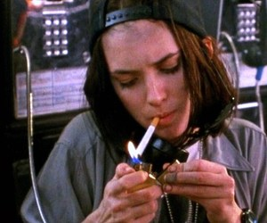 winona ryder, 90s, and cigarette image