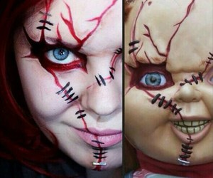 Chucky, costume, and scary doll image