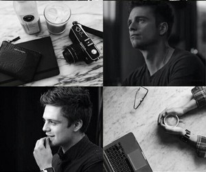 sebastian stan, aesthetic, and black and white image